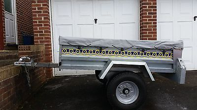 Noval portaflot car #trailer 5ft x 3ft and #cover - #galvanised 500kg load,  View more on the LINK: http://www.zeppy.io/product/gb/2/201555965348/