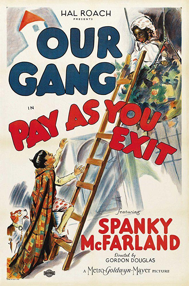 Darla Hood, Eugene 'Porky' Lee, George 'Spanky' McFarland, Carl 'Alfalfa' Switzer in Pay As You Exit (1936).  Joe Cobb appeared as Fat Kid