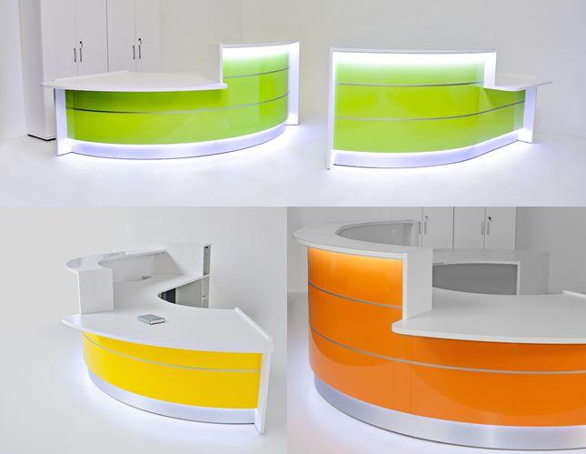 valde reception desk with dda sections