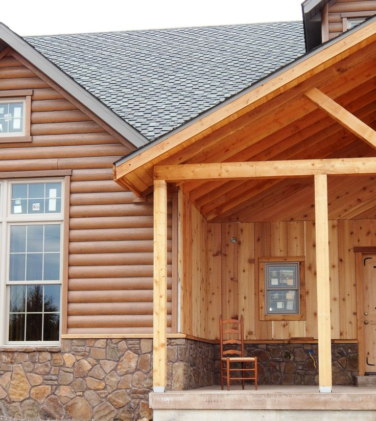 17 best images about log home ideas on pinterest log E log siding