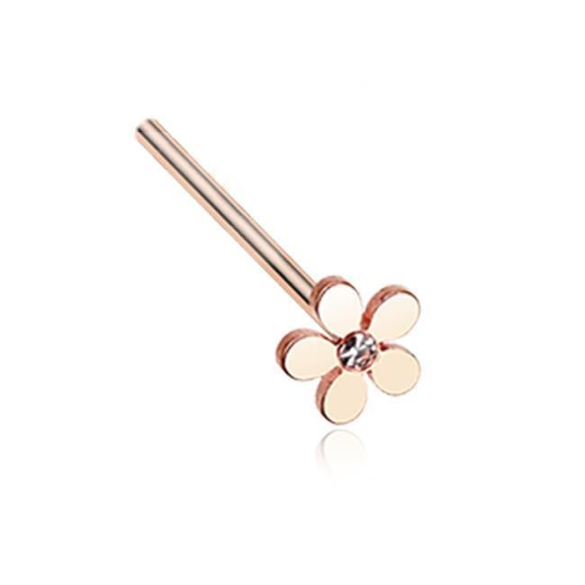 Rose Gold Plated Surgical Steel Nose Ring 20G | $9.99