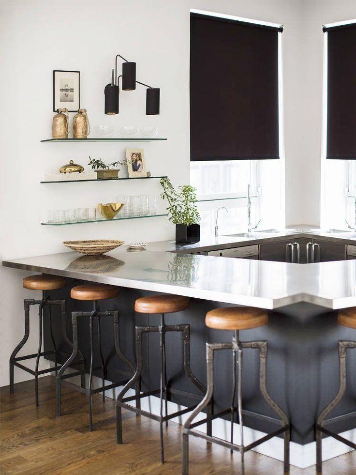 25 beste idee n over kookeiland krukken op pinterest mooie keuken barkrukken keuken en - Lounge en keuken in dezelfde kamer ...