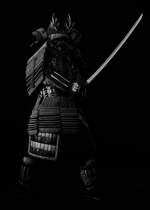 ♂ Black & white photo world martial art Japanese Samurai