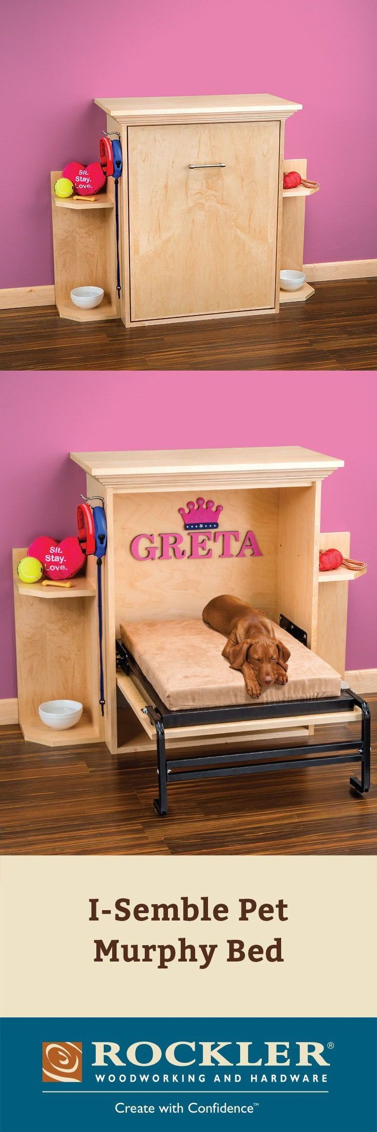 ISemble Pet Murphy Bed One quick lift is all it takes