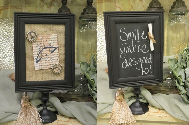 Dippity Dot: Double Sided Magnetic Photo Frame with burlap