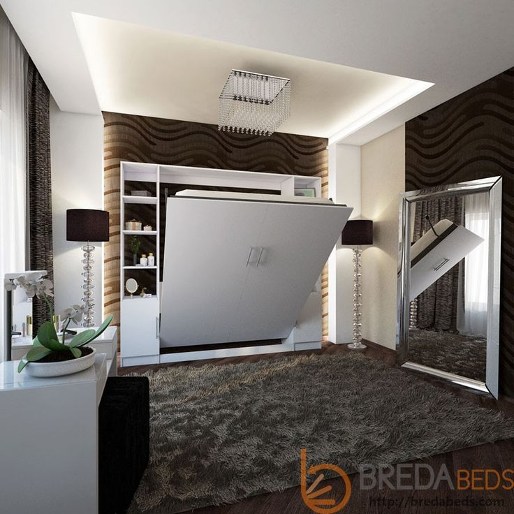 Urban murphy bed w hutches transitioning 1602 mattress breda beds decorating and design - Pinterest murphy bed ...