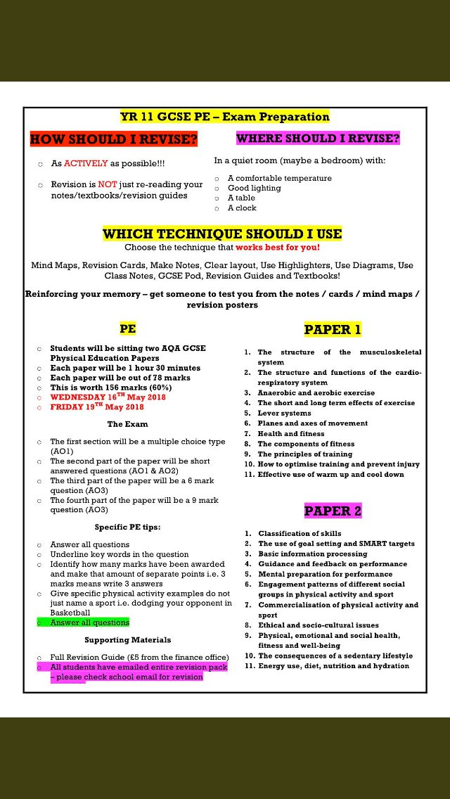 Pin by Claire May on School gcse | Gcse pe, Education, School