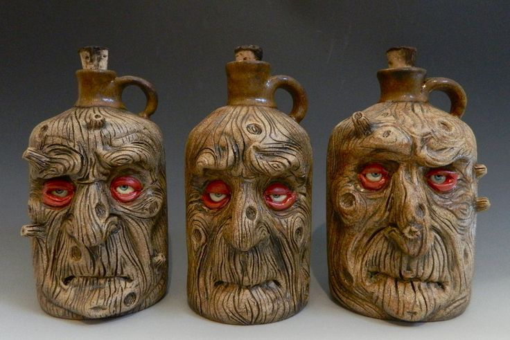 Wooden Men Jugs by thebigduluth.deviantart.com on @deviantART