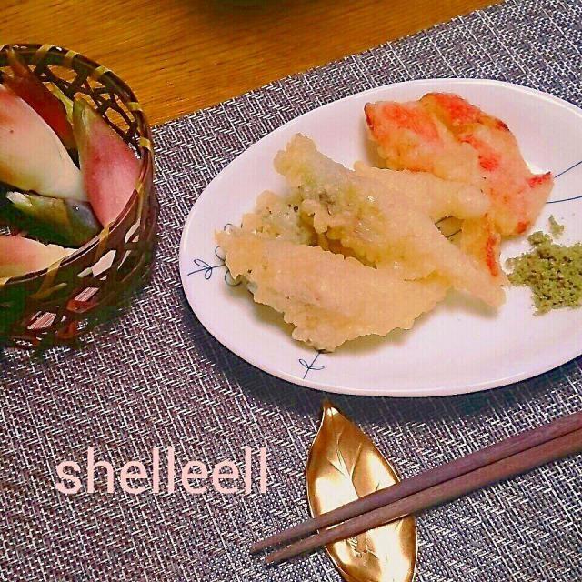 我が家の収穫はミョウガ(^-^)v抹茶塩でいただきます~♪ - 35件のもぐもぐ - 収穫の秋です~ミョウガの天ぷら(*ノ▽ノ) by シェリリン