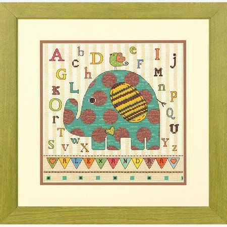 Dimensions Crafts Counted Cross Stitch Kit Baby Elephant