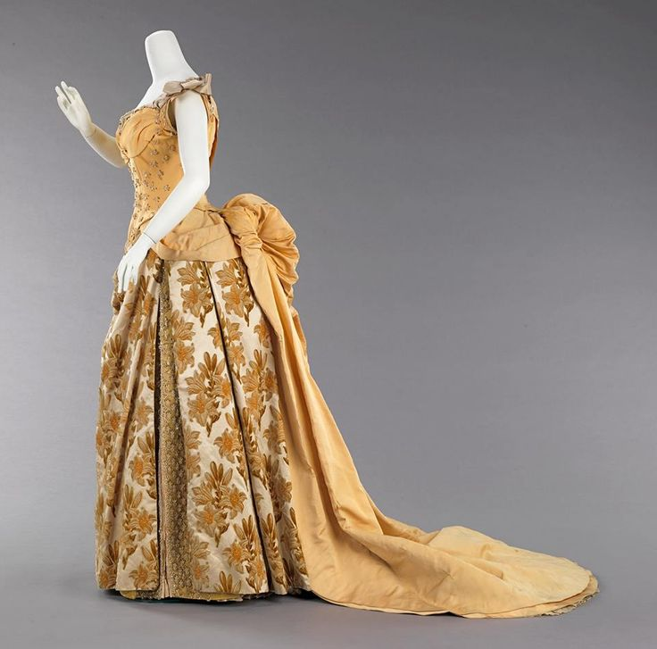 1888, France Silk evening dress by Charles Frederick Worth MET Museum
