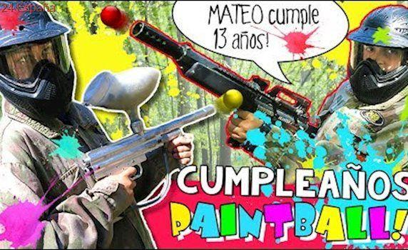 🎂 ¡¡MATEO cumple 13 años!! 💥🔫  PAINTBALL para NIÑOS en el Cumpleaños de MATEO The crazy Haacks 🎂