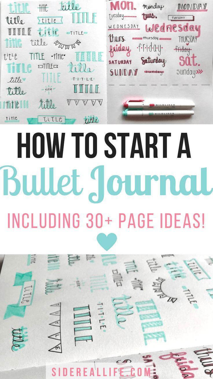 how to start a bullet journal pinterest