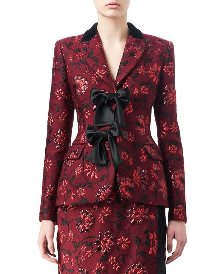 Get free shipping on Altuzarra Angela Floral Jacquard Jacket with Satin Bows at Neiman Marcus. Shop the latest luxury fashions from top designers.