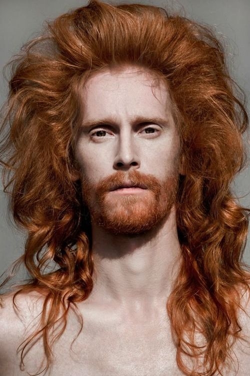 Big redhead hairdo