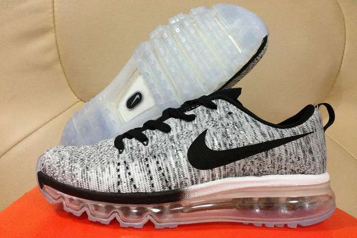 Nike Flyknit Air Max Mens All Gray Shoes