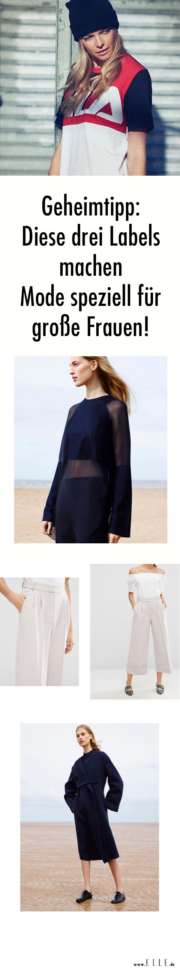 Große Frauen haben es modetechnisch nicht leicht: Alles hier zu kurz, da zu weit. ELLE.de zeigt dir drei Labels, die Mode speziell für große Frauen machen.