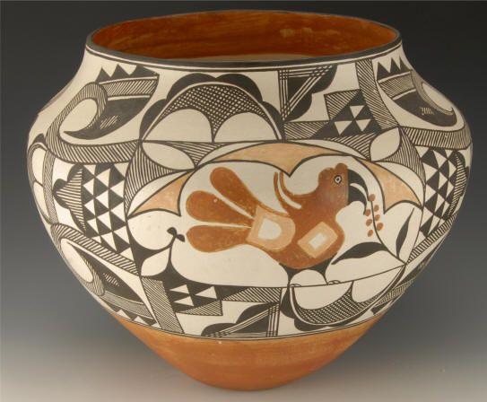 Lolita Chonco 4 color Acoma cerámica - arte nativo americano