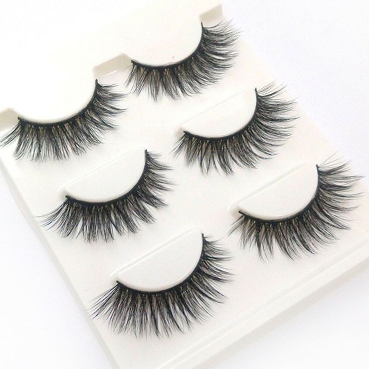 Material Faux Mink. Hold the eyelash on the root of your