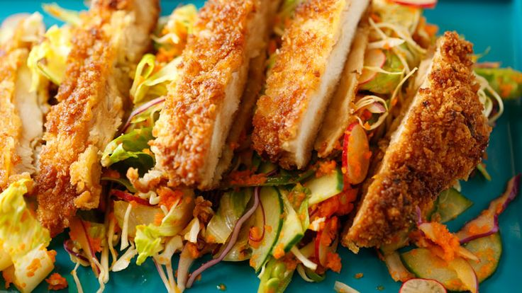Daddy Wu's Carrot Dressing Recipe serve Under Daddy Wu's Pan Fried Chicken Breast - YUM.... Rachael Ray Show