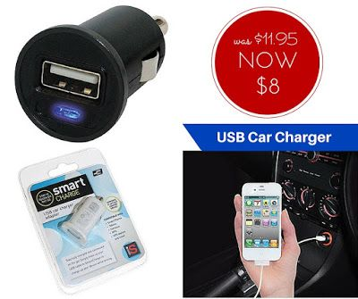 WEEKLY SPECIAL: USB Car Charger NOW $8 (was $11.95)  Every car needs one of these. Charge your phone, tablet, GPS, camera, MP3 player and other electronic devices while you drive. If you don't have one of these yet, now is a great time to grab one. Only while stocks last.
