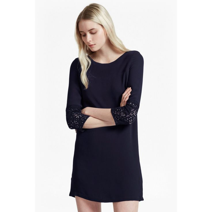 French Connection Ensore Crepe Tunic Jurk Utility Blue | Fabriq