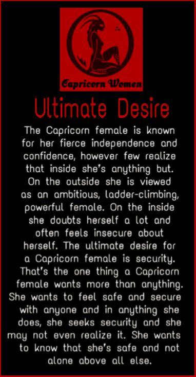Capricorn Women - Ultimate Desire
