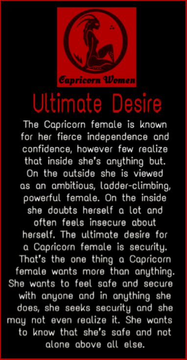 Capricorn Women - Ultimate Desire