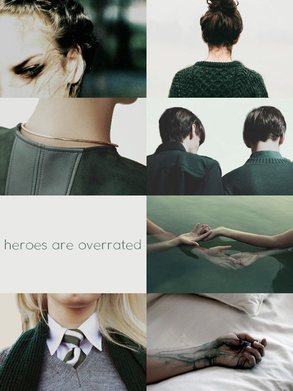 """HP Aesthetic - Hogwarts Houses ↳ Slytherin """