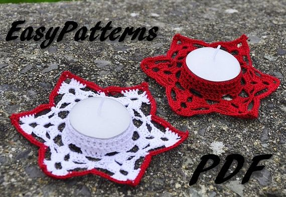 Star Candle Holder Pattern by EasyNadiaPatterns on Etsy