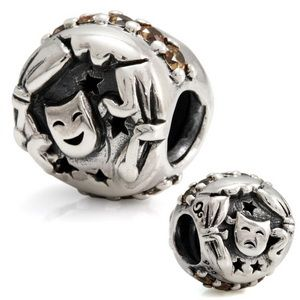 Ohm Silver Comedy Tragedy Theater Bead, $60.00