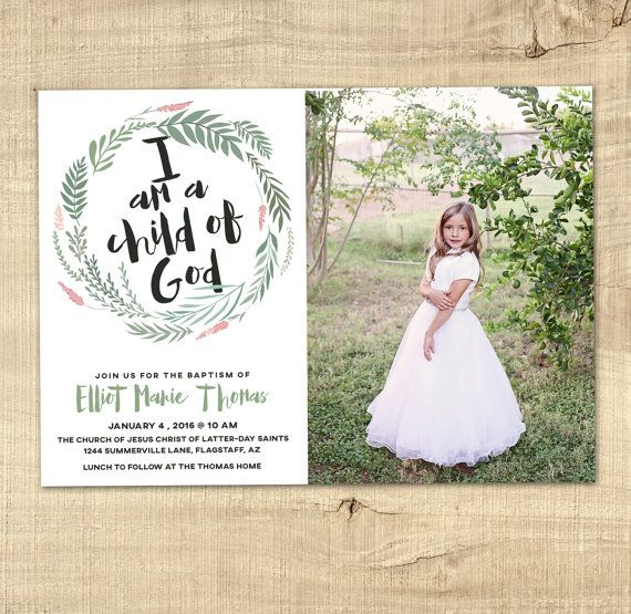 20 best Baptism Invitations and announcements images on Pinterest