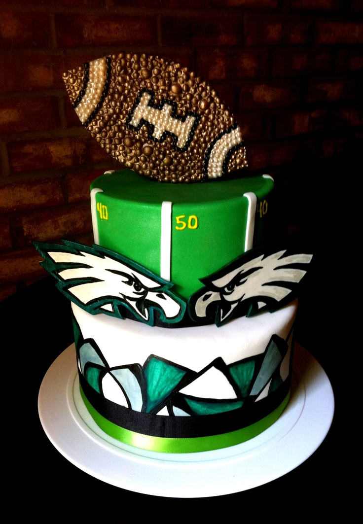 Philly eagles grooms cake Would totally do this for Tyler :)