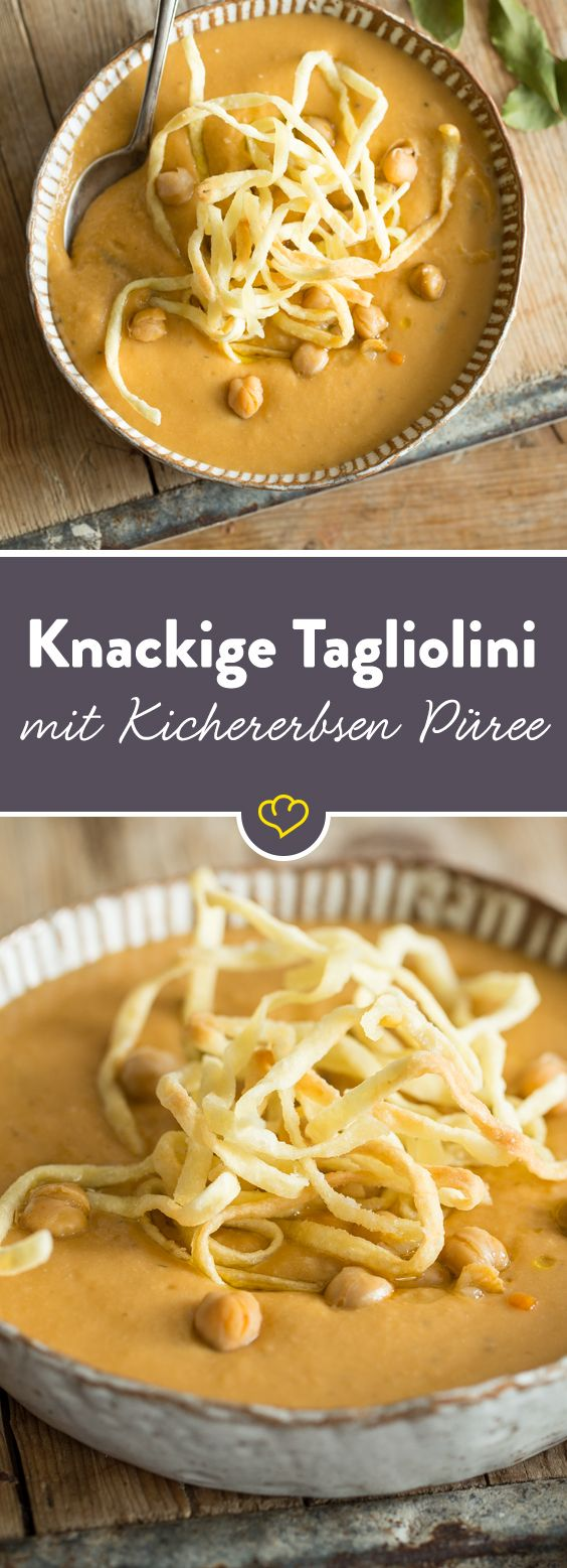 Kichererbsen mit Pasta sind ein Klassiker der italienischen Landküche. Eine gehaltvolle und zugleich gesunde Hauptspeise.