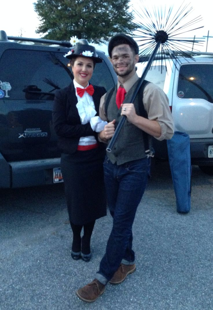 Mary Poppins And Bert The Chimney Sweep Halloween Costume