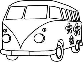Ausmalbilder Vw Bus Vorlagen Pinterest Vw Bus Coloring Pages