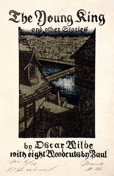 Artist: HAEFLIGER, Paul | Title: Bookplate: (Frontispiece) The Young King and other stories | Date: 1931-33 | Technique: woodcut, printed in colour, from multiple blocks