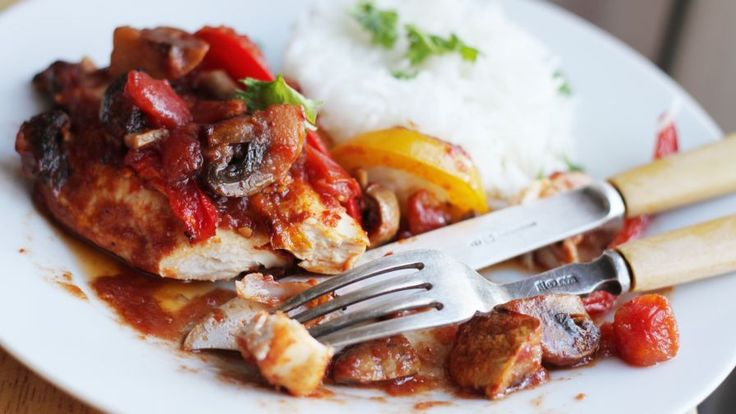 Honey-Balsamic Baked Chicken Breasts With Tomatoes, Mushrooms A Recipe - Genius Kitchen
