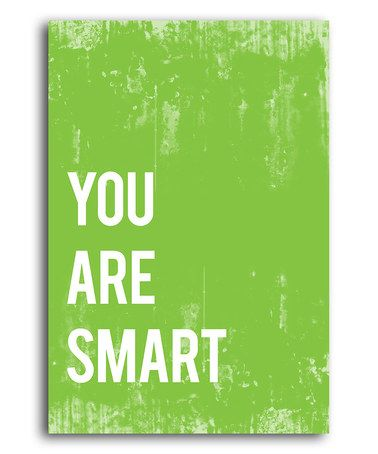 Love this Lime Green 'You Are Smart' Print by Fresh Words Market on #zulily! #zulilyfinds