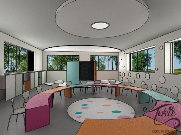 Propuesta de dise o de aulas preescolares on behance - Cursos diseno de interiores ...