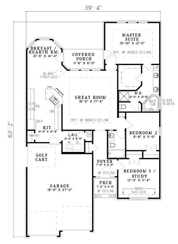 Bungalow Craftsman European House Plan 61353 To be