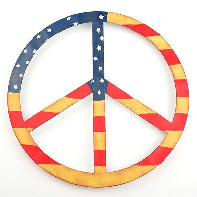 peace sign flags
