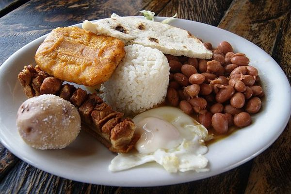 Calentado is a breakfast favourite in Colombia. #colombia #breakfast