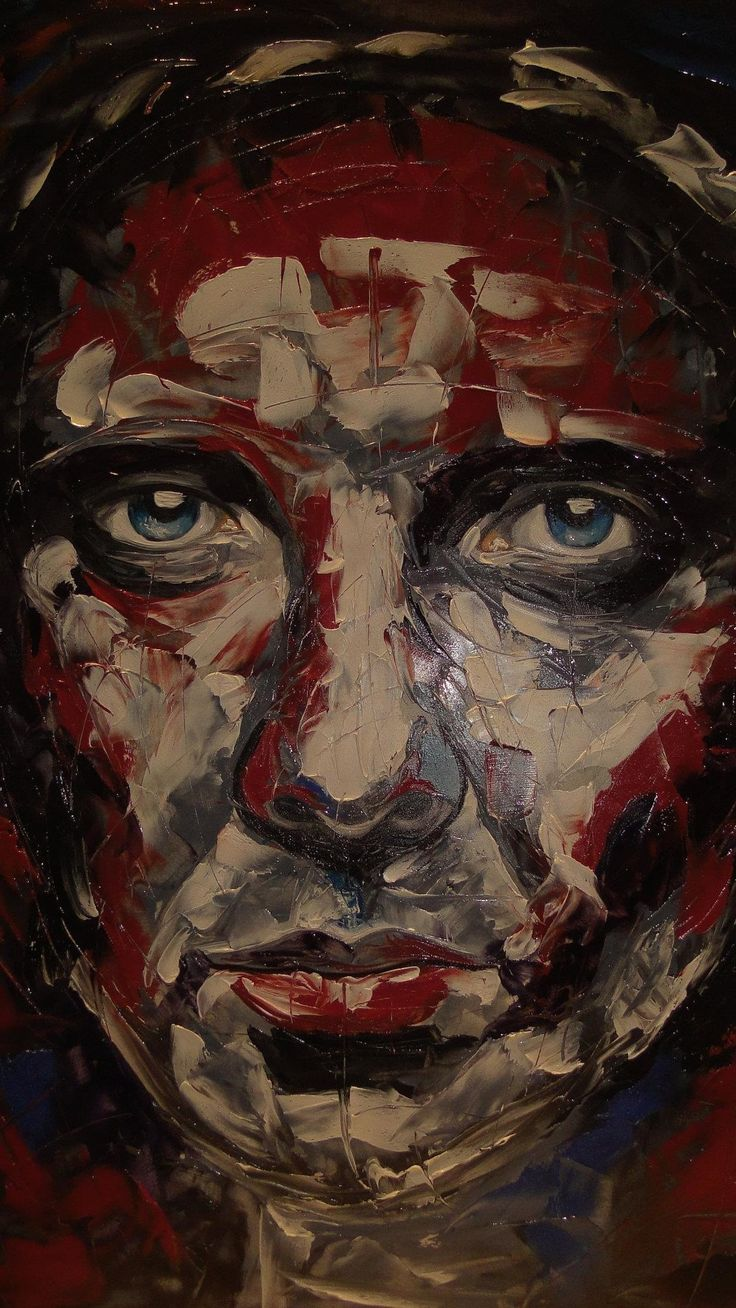 Passion of Christ Painting on porcelain, palette knife. Nelia Ferreira