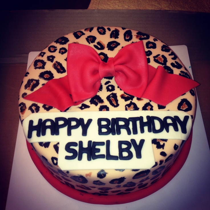 Cheetah Birthday Cake  Makaylau0027s 8th Birthday ?