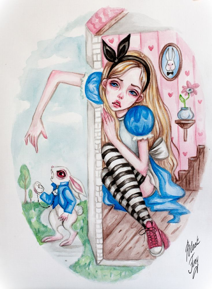 Современные нарисованные девочки алиса в стране чудес
