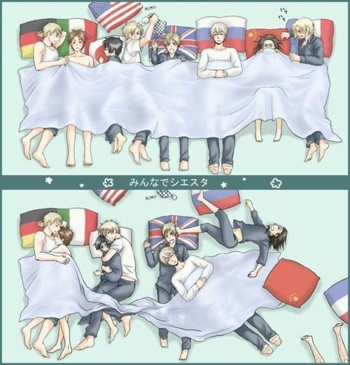 Hetalia -Germany, Italy, Japan, USA, England, Russ…