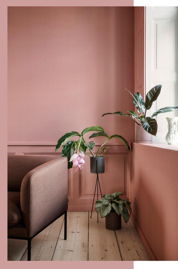 Deco Salon Rose Poudré terra cotta, blush & co | couleur mur salon, deco rose, déco