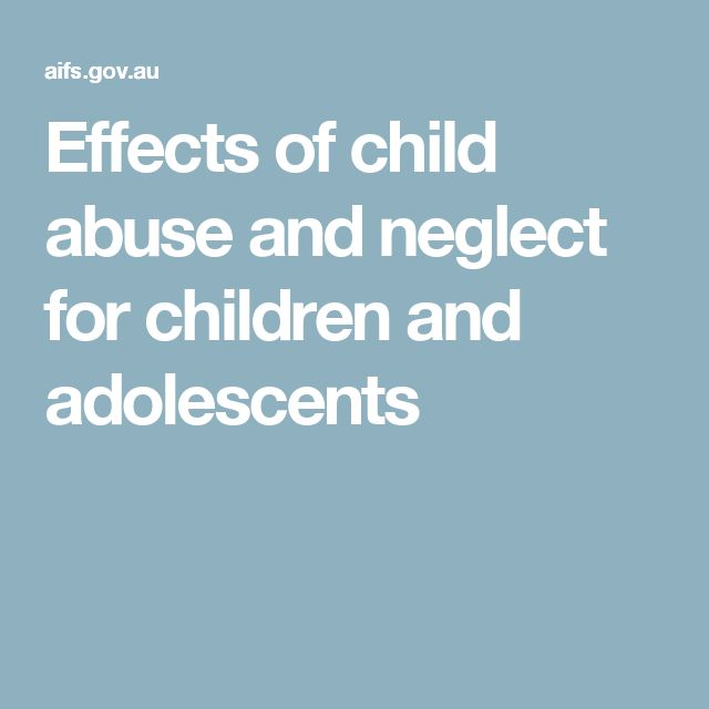consequences of child abuse and neglect Child maltreatment statistics the national child abuse and neglect data system (ncands) is a federally supported organization that analyzes and records statistical data regarding claims of child.