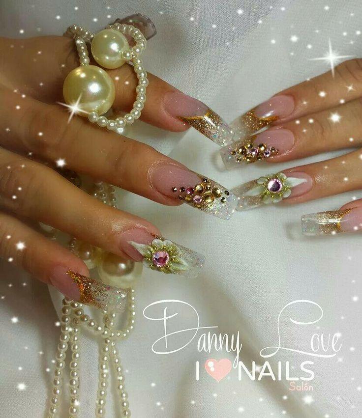 46 best dorado y plata images on pinterest organic nails for Pedreria swarovski para unas